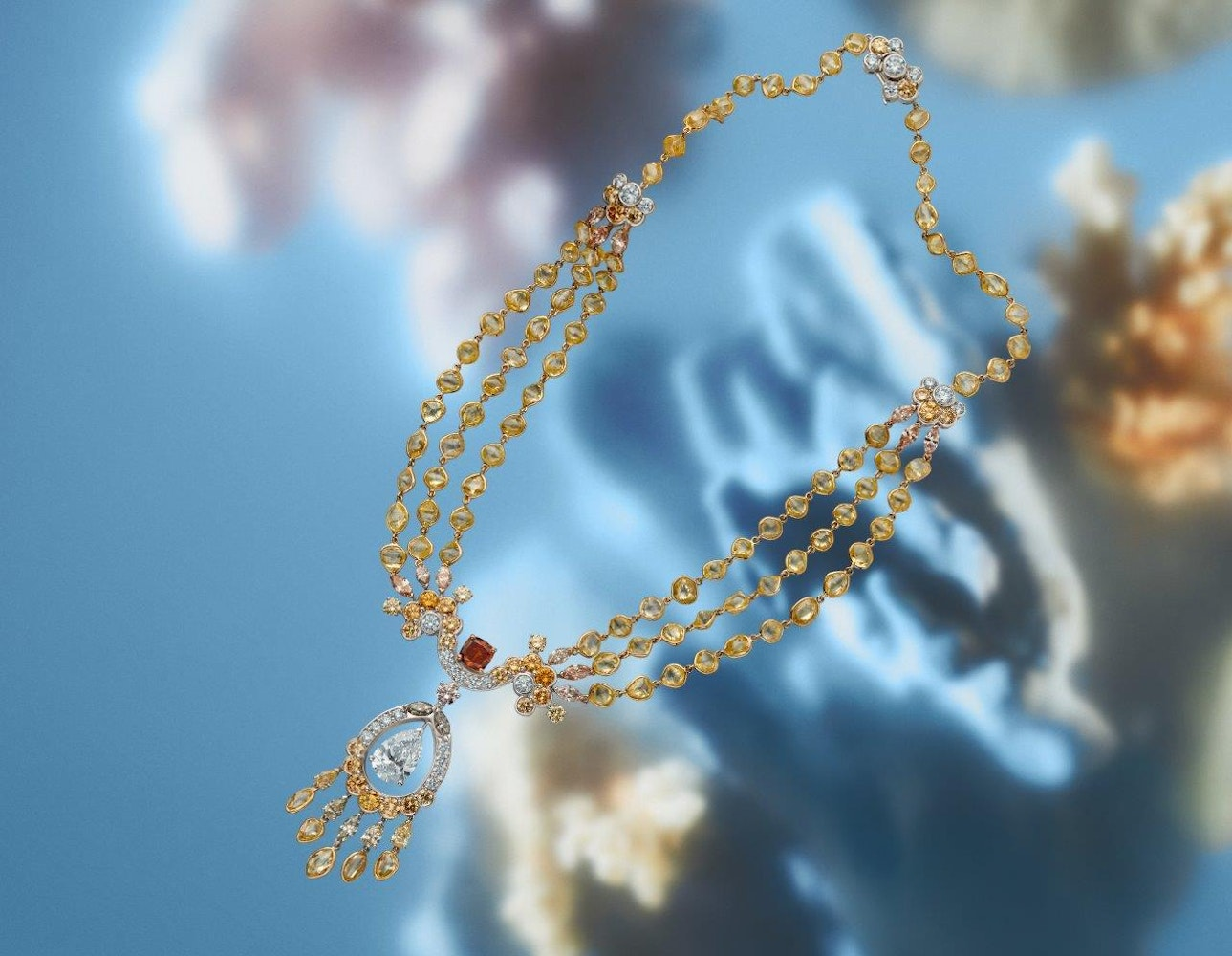 Reflections of Nature by De Beers Landers Radiance necklace