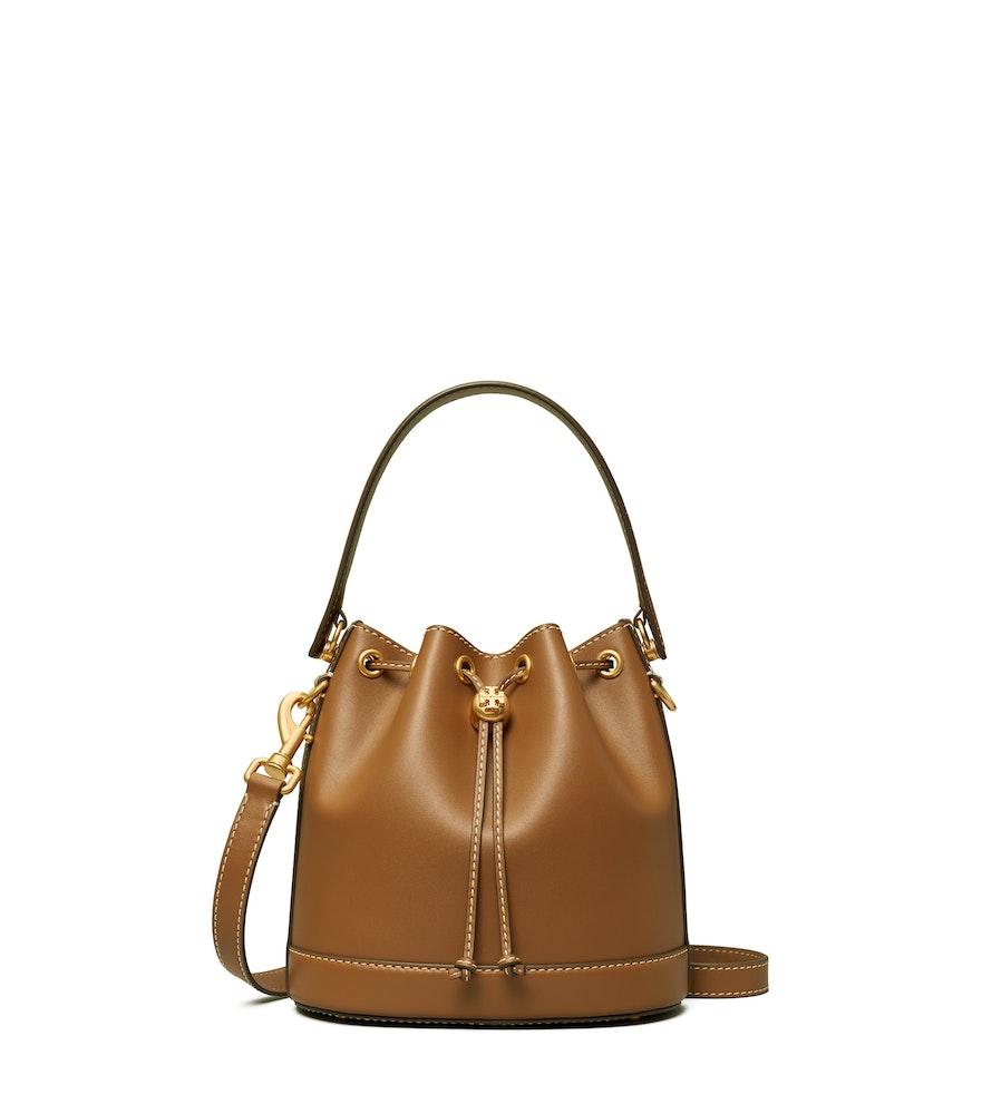 TB T Monogram Leather Bucket Bag 80504 in Moose