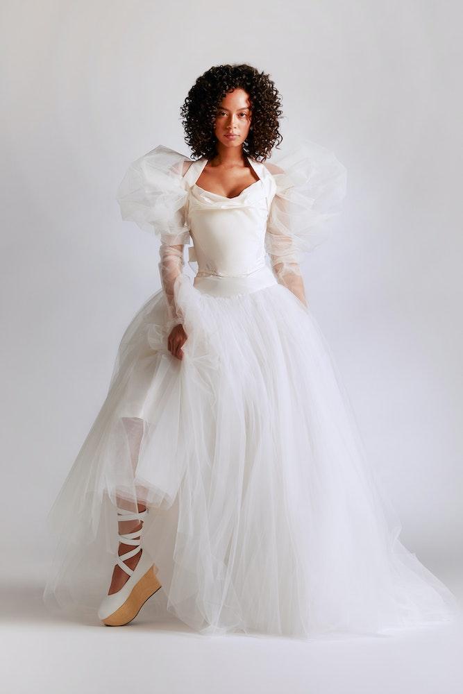VW Bridal 2021 Look 15 Bagatelle Corset Vesta Petticoat Elizabeth Tulle Bolero